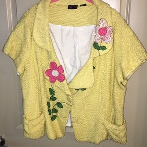 Jackets & Blazers - Yellow flower jacket